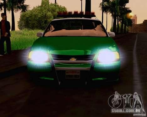 Chevrolet Impala 2003 VCPD police para GTA San Andreas traseira esquerda vista