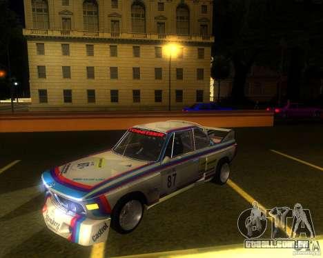 BMW CSL E9 para GTA San Andreas vista traseira