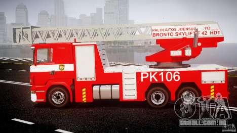Scania R580 Fire ladder PK106 [ELS] para GTA 4 esquerda vista