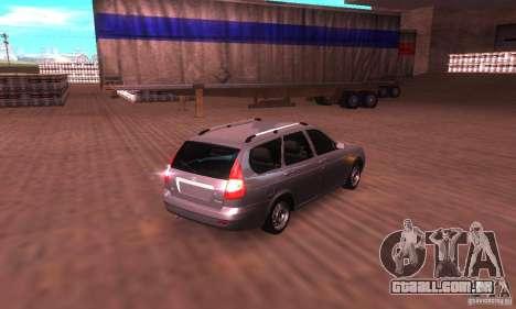 VAZ-2171 v 2.0 para GTA San Andreas traseira esquerda vista