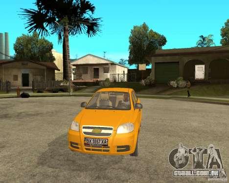 Chevrolet Aveo 2007 para GTA San Andreas vista traseira
