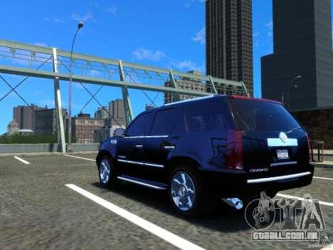 Cadillac Escalade v3 para GTA 4 traseira esquerda vista