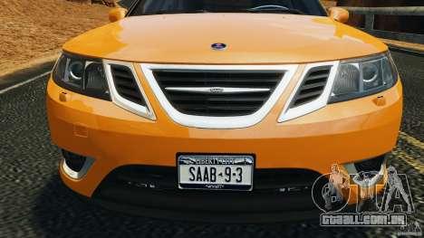 Saab 9-3 Turbo X 2008 para GTA 4 vista inferior