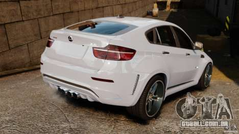 BMW X6 Hamann Evo22 no Carbon para GTA 4 traseira esquerda vista