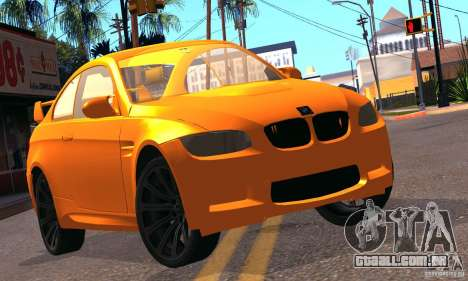 BMW M3 para vista lateral GTA San Andreas