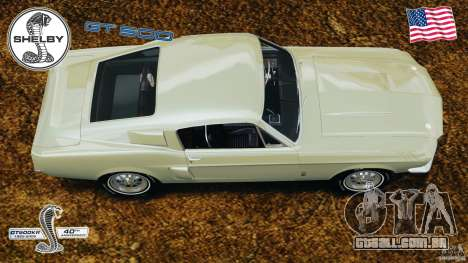 Shelby GT 500 para GTA 4 vista direita