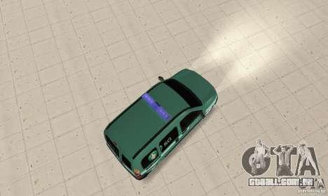 Renault Kangoo Straz Graniczna para GTA San Andreas traseira esquerda vista