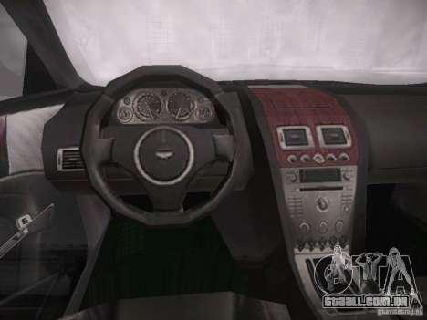 Aston Martn DB9 2008 para GTA San Andreas vista traseira