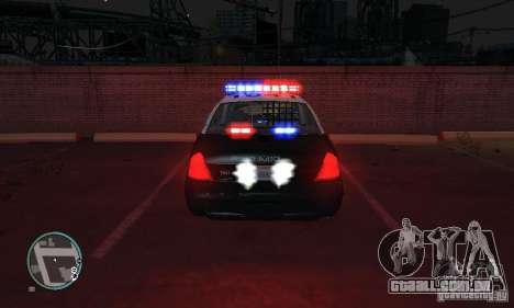 Ford Crown Victoria Police para GTA 4 esquerda vista