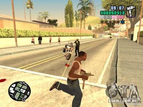 Vice City Hud para GTA San Andreas quinto tela