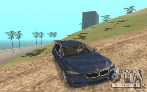 BMW M5 F11 Touring para GTA San Andreas vista inferior