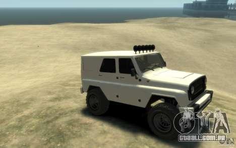 UAZ Hunter final para GTA 4 vista direita