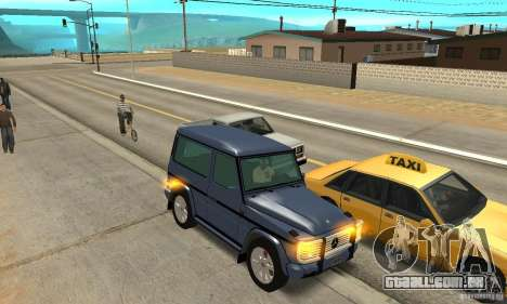 Mercedes-Benz G500 1999 Short [with kangoo v1] para GTA San Andreas vista interior