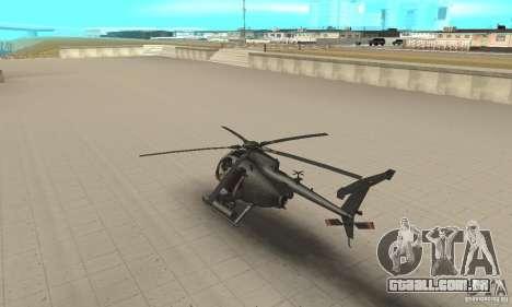 AH para GTA San Andreas traseira esquerda vista