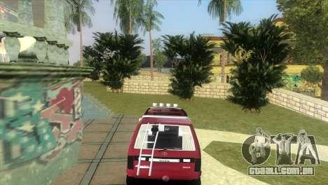 Toyota Town Ace-Tuning para GTA Vice City deixou vista