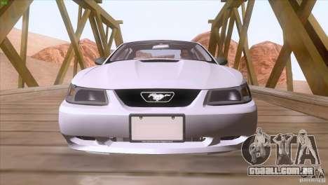 Ford Mustang GT 1999 para GTA San Andreas vista inferior