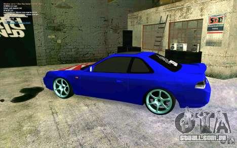 Honda Prelude para GTA San Andreas esquerda vista