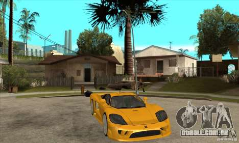 Saleen S7 Twin Turbo para GTA San Andreas vista traseira