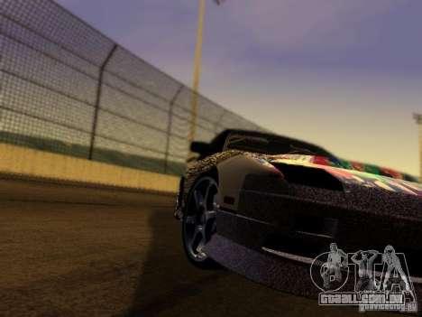Nissan 240sx Street Drift para GTA San Andreas vista traseira