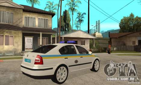 Polícia de trânsito ucraniano Skoda Octavia II para GTA San Andreas esquerda vista