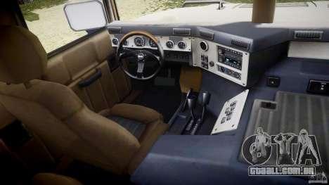 Hummer H1 Original para GTA 4 vista de volta