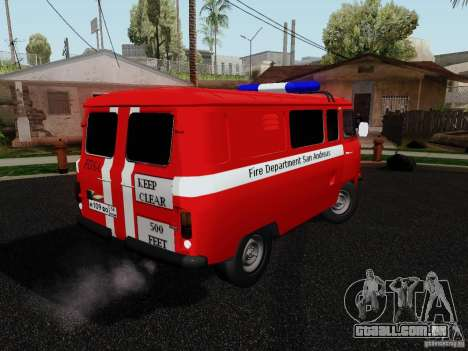 UAZ 3909 fogo para GTA San Andreas esquerda vista