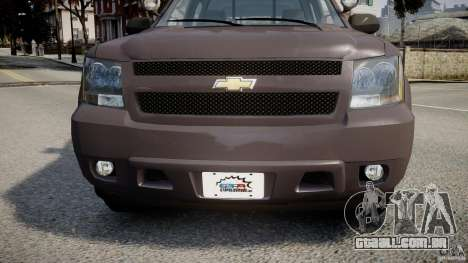 Chevrolet Tahoe Indonesia Police para GTA 4 vista interior