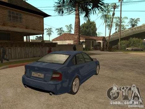 Subaru Legacy 3.0 R para GTA San Andreas vista direita