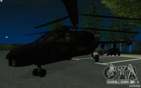 KA-52 ALLIGATOR v1.0 para GTA San Andreas