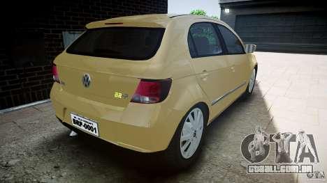 Volkswagen Gol 1.6 Power 2009 para GTA 4 traseira esquerda vista