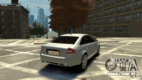 Audi RS6 2003 para GTA 4 traseira esquerda vista