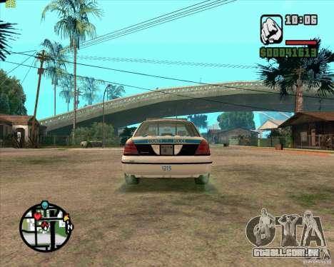 Ford Crown Victoria Baltmore County Police para GTA San Andreas vista direita