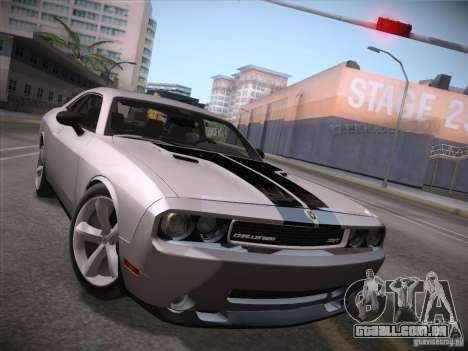 Dodge Challenger SRT8 v1.0 para GTA San Andreas esquerda vista