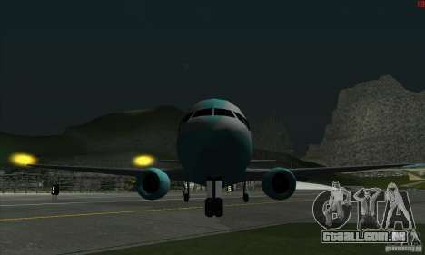 AT-400 em todos os aeroportos para GTA San Andreas quinto tela