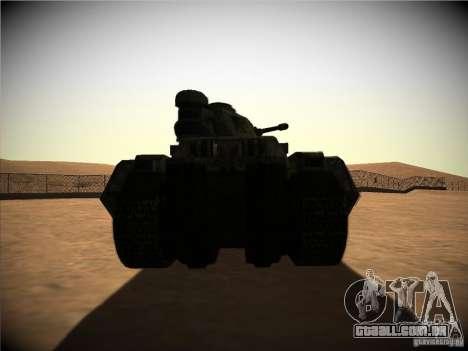 Tanque do jogo TimeShift para GTA San Andreas vista direita