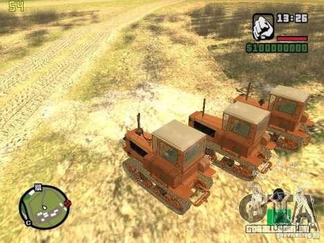 Tractor DT-75 carteiro para GTA San Andreas vista direita