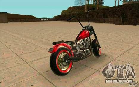 Zombie GTAIV para GTA San Andreas traseira esquerda vista