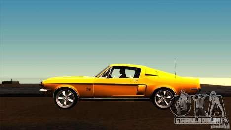Shelby GT500KR para GTA San Andreas esquerda vista