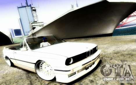 BMW E30 M3 Cabrio para vista lateral GTA San Andreas