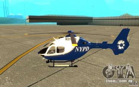 NYPD Eurocopter por SgtMartin_Riggs para GTA San Andreas traseira esquerda vista