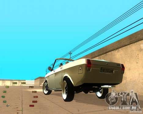 Gaz Volga 2410 el Cabrio para GTA San Andreas esquerda vista