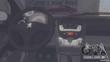 Peugeot 107 2011 para GTA San Andreas traseira esquerda vista