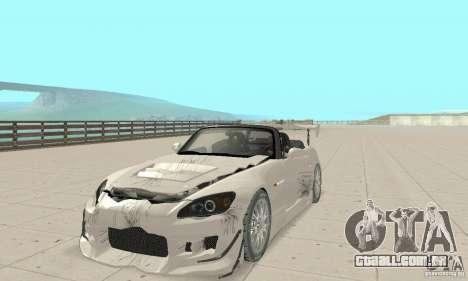 Honda S2000 Cabrio West Tuning para GTA San Andreas vista superior