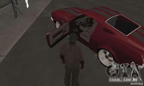 Ford Mustang 1968 para GTA San Andreas vista direita