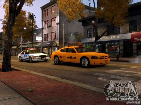 Dodge Charger NYC Taxi V.1.8 para GTA 4 vista superior