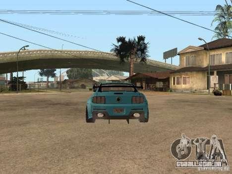 Ford Mustang GT 500 para GTA San Andreas vista direita