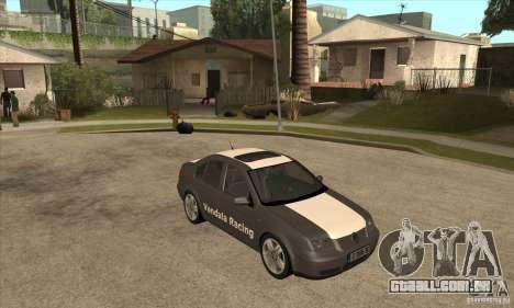 Volkswagen Bora VR6 2003 para GTA San Andreas vista traseira