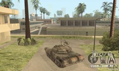 T-90A para GTA San Andreas traseira esquerda vista