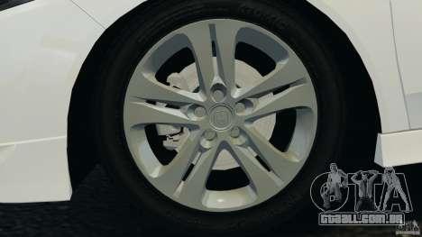 Honda Accord Type S 2008 para GTA 4 vista lateral