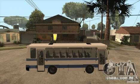 LAZ-A141 para GTA San Andreas vista traseira